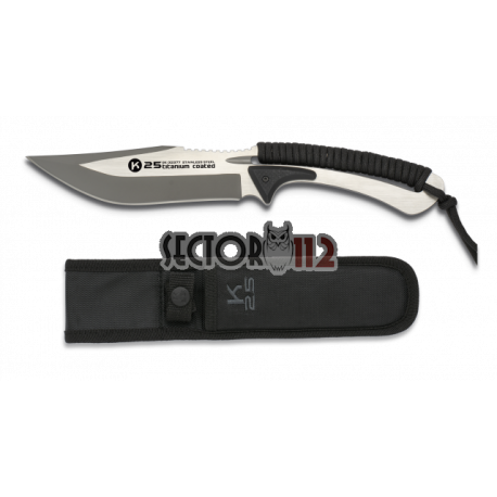 cuchillo encordado K25 black