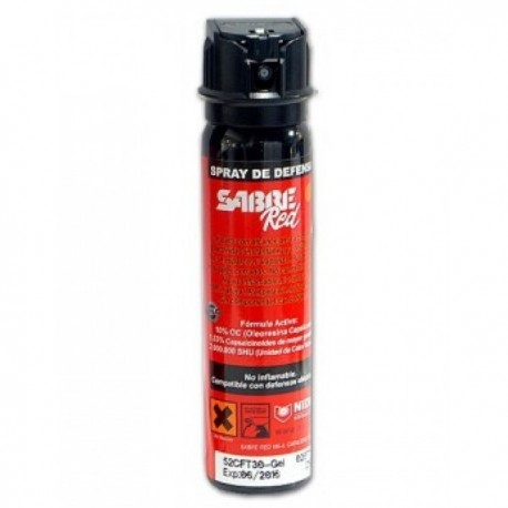 SPRAY DE DEFENSA SABRE RED (GEL) MK-4  HOMOLOGADO 75/90 ml