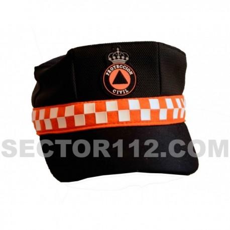 Gorra protección civil con damero