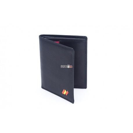 cartera portaplaca mod. 802 negro óvalo c/bandera