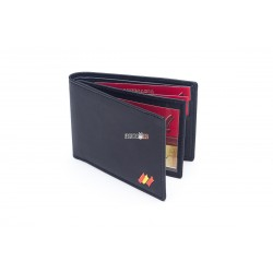 cartera portaplaca monedero exterior PN c/bandera
