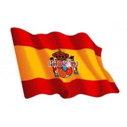 pegatina siliconada bandera españa ondeando
