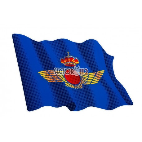 Pegatina plana grande bandera Ejército del aire