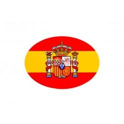 Pegatina plana España óvalo