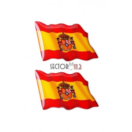 Pegatinas siliconadas medianas 2uds España ondeando