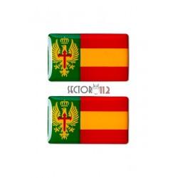 Pegatinas siliconadas medianas 2 uds Ejército España