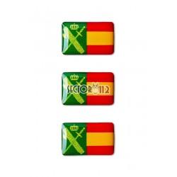 Pegatinas siliconadas pequeñas 3uds Guardia civil España