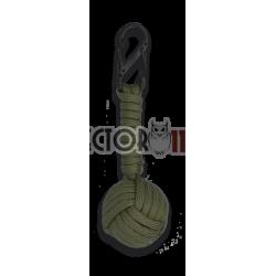 Mosquetón doble con bola de cuerda