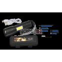 Linterna recargable con zoom, barra led y caja ABS