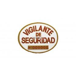 Placa homologada vigilante de seguridad