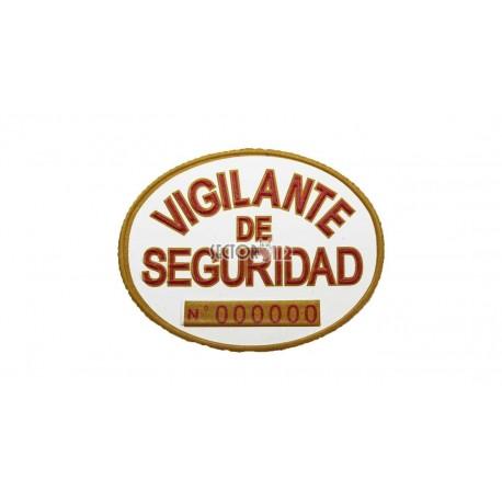 Placas homologadas vigilante de seguridad (2 UDS)