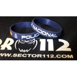 pulsera silicona policía nacional