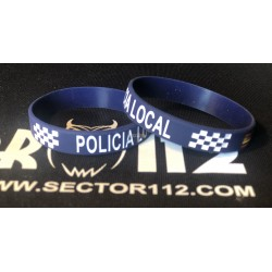 pulsera silicona policía local