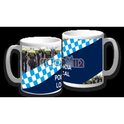 Taza cerámica policía local