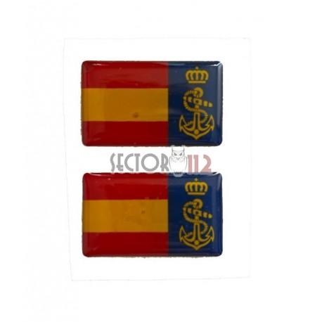 pegatina siliconada 2 uds Armada Española
