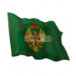 pegatina siliconada bandera ejército de tierra ondeando