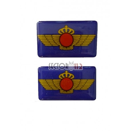 Pegatinas siliconadas medianas 2 uds Ejército del aire
