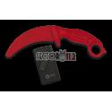 Cuchillo entrenamiento Carambit K25 rojo