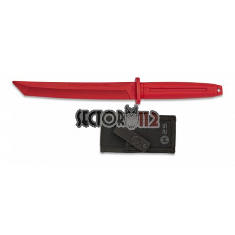 Cuchillo entrenamiento tipo tanto K25 negro