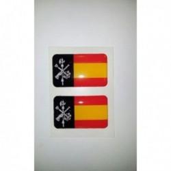 pegatina siliconada 2 uds legión España